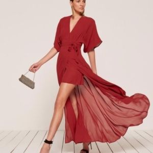 ROUGE!! NWOT Reformation Winslow Maxi Dress - Red